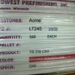 Midwest Prefinishing Services - labeling